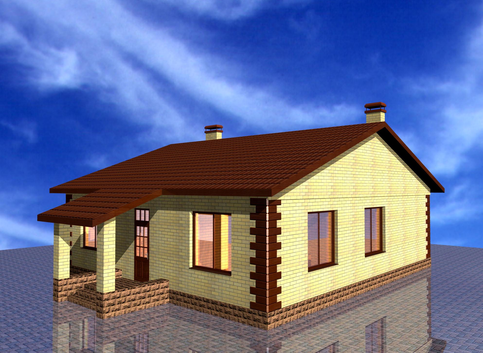 Как построить дом одноэтажную показать с фото ли, что